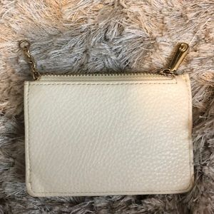 Cream key wallet